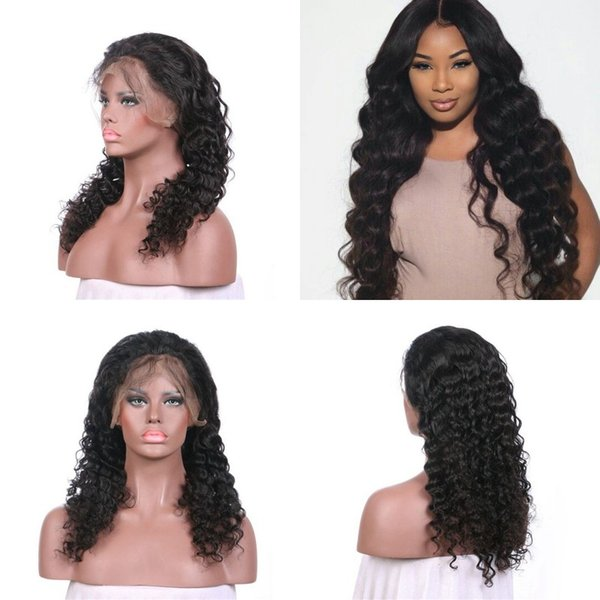 150% Density Pre Plucked Deep Wave Lace Front Wigs Premium Quality Glueless Peruvian Hair Wigs FDSHINE HAIR
