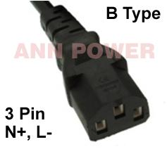 B Type de connecteur 3pin