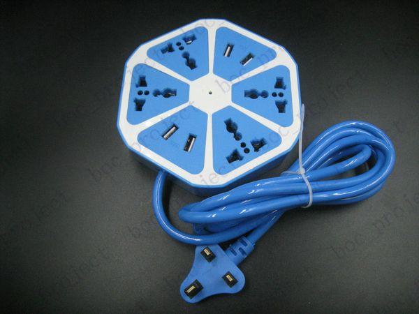 Presa Power Strip di design Lemon con 4 prese USB standard Presa multipla Smart Power Strip Home Electronics 10p