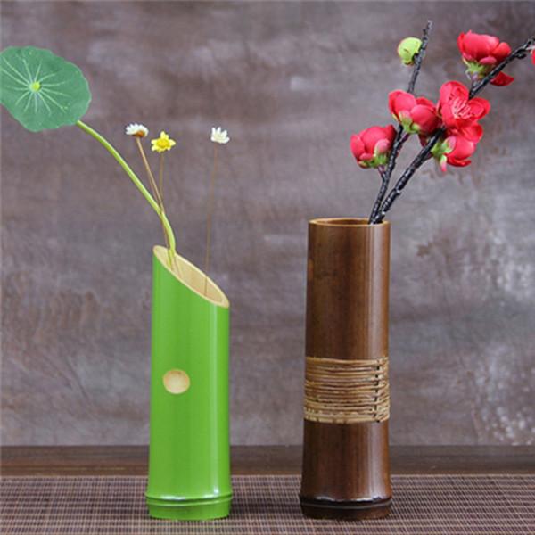 Compre Venta Al Por Mayor Floreros Decorativos De Bambú Hechos A Mano Para El Hogar Decoración Floreros De Decoración De Boda De Alta Calidad 2016
