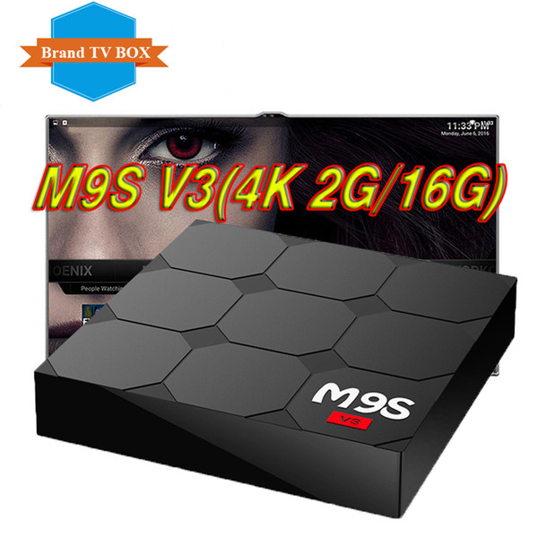 Retail And Wholesale 2017 Cheapest Best Price 2gb+16gb Android Ott Tv Box  M9s V3 Quad Core Rk3229 Wifi 4k Video Streaming Media Player Boxes Vs T95z