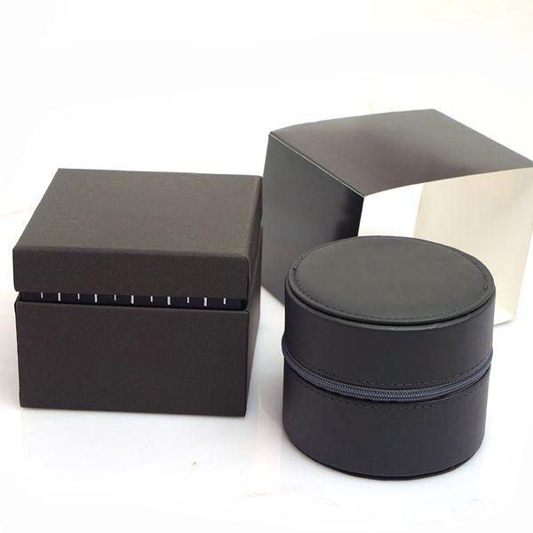 Montres de luxe rondes en cuir Boîtes à cadeaux en cuir Boîte à montres Montres pour hommes boîte à montres montres box glitter2009
