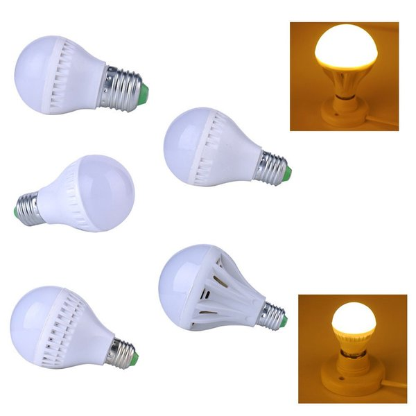 Les ampoules de globe des ampoules B22 E14 E27 de LED s'allument 3W / 5W / 7W / 9W SMD2835 Les ampoules à LED chauffent / l'éclairage super lumineux blanc superbe de lumière blanche