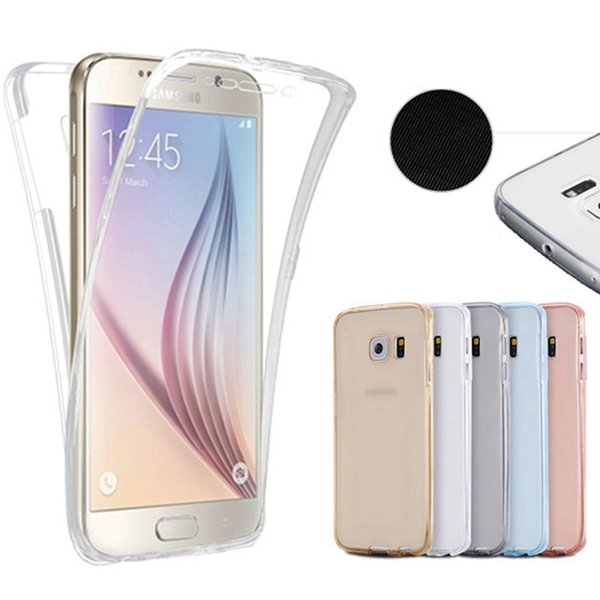 new product 83923 6ab1f S6 Edge/S6 Edge Plus Crystal Clear Full Coverage Case For Samsung Galaxy S6  Edge /Edge Plus 360 Degree Protective Soft TPU Cover Cute Cell Phone Cases  ...
