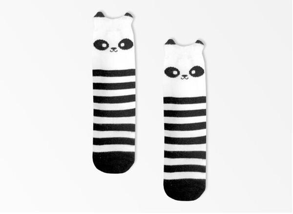 Moda Niños Encantadores Calcetines de animales en 3D Bebé Niño Niña Calentadores de Pierna de algodón Búho Panda Totoro imagen Envío Gratis
