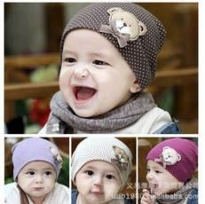 2017 Newborn Cute Baby Hat photography props Infant Toddler Girl Boy Baby Cap Cute Polka Dot Beanie Cotton Hat 9 Colors