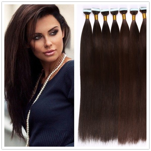 Tape In Human Hair Extensions Natural Seamless Tape Hair Extensions