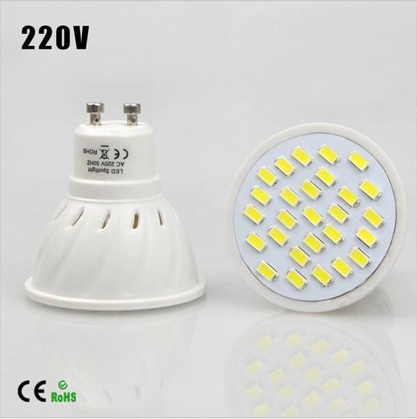 Energy Saving Full Watt 7W GU10 LED Spotlight Bulb AC110v-220V Heat resistant Body SMD5730 27LEDs lamp lighting