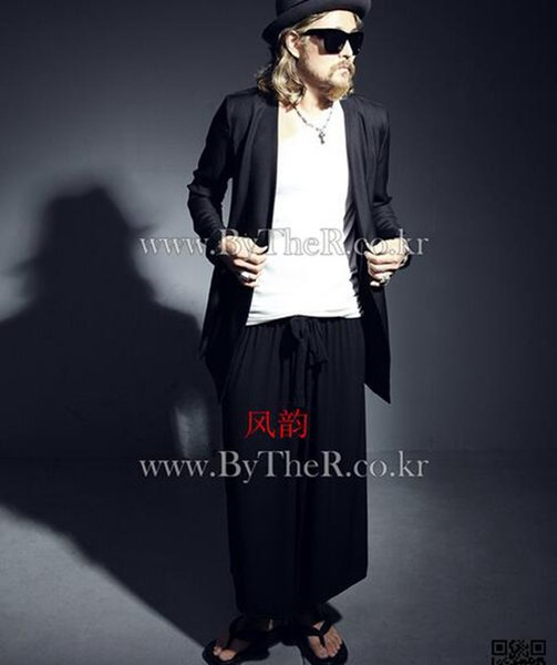 Han edition spring tide stereo clipping the new men's new fashion leisure culottes large flares wide-legged pants / 27-42