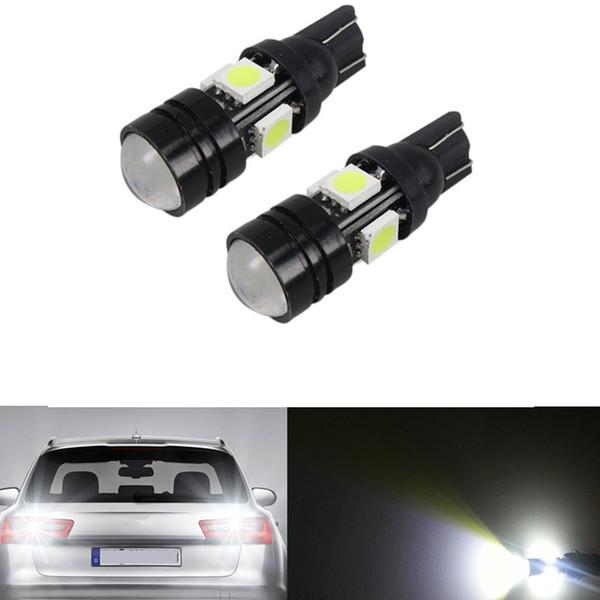 10pcs ampoules blanches 4-SMD 5050 LED pour la lumière de stationnement de voiture 168 194 2825 5W 12v DIY