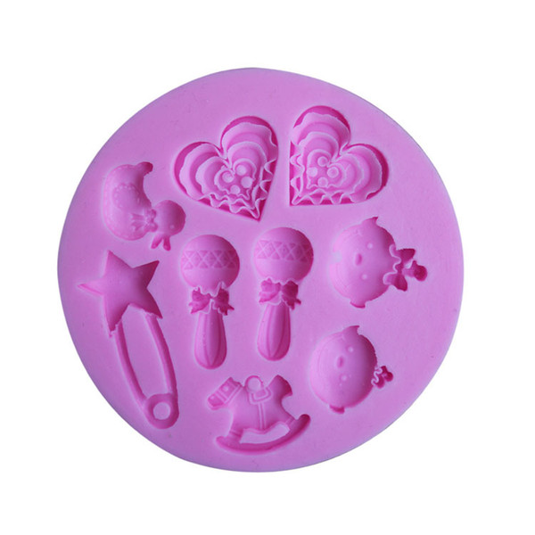 baby toy silicone fondant cake mold ,candle molds, chocolate mould for cakes free shipping TY1907