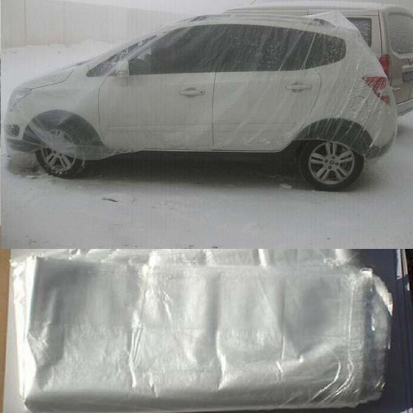 top popular car covers elastic clear plastic Universal waterproof anti-dust 2020