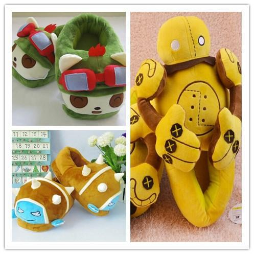 2016 New arrival LOL Cotton Slipper Teemo Blitzcrank Rammus Stuffed Toys Chirstmas gift Great quality in STOCK