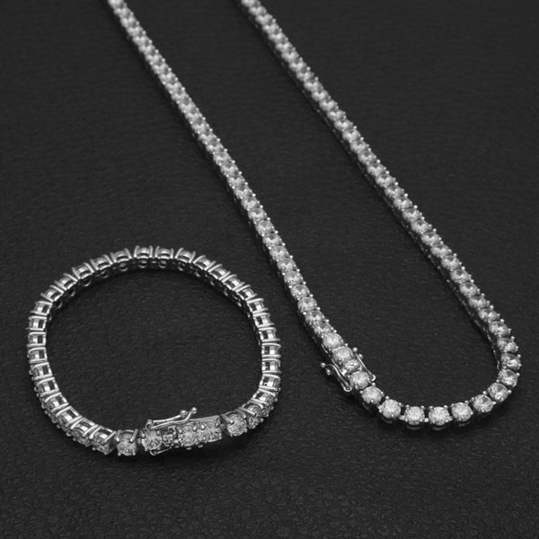 18''silver necklace+8''bracelet