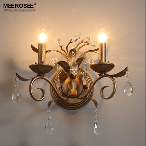Vintage American Crystal wall light lamp Beautiful Crystal wall bracket for Bathroom Living room Dining room aisle hallway light