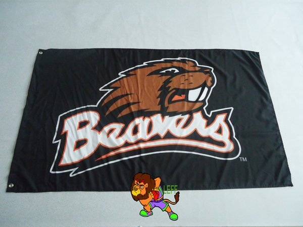 State University Beavers 3X5FT 150X90CM Bannière trous en laiton en métal Oeillets en laiton en polyester