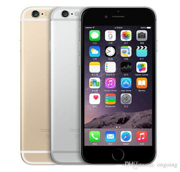 "Unlocked Original Refurbished Iphone 6 Mobile Phone without fingerprint Function 4.7"" 1GB RAM 16GB ROM 8MP Camera DHL Free shipping"