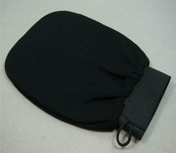 Wholesale 50pcs/lot hammam scrub mitt magic peeling glove exfoliating bath glove brown black morocco scrub glove
