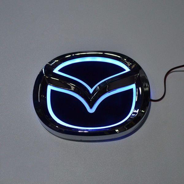 Großhandel Auto Styling Spezielle Modifizierte Weiß Rot Blau 5d Hinten Abzeichen Emblem Logo Licht Aufkleber Lampe Für Mazda 6 Mazda2 Mazda3