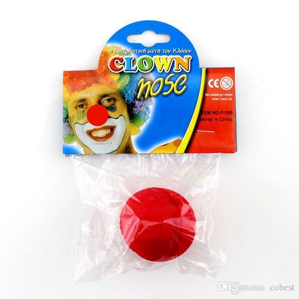 Halloween Props Red Clown Nose Sponge Ball Clown Dress Making Fun Fun Regali di novità di Halloween 500pcs DHL LIBERA il trasporto