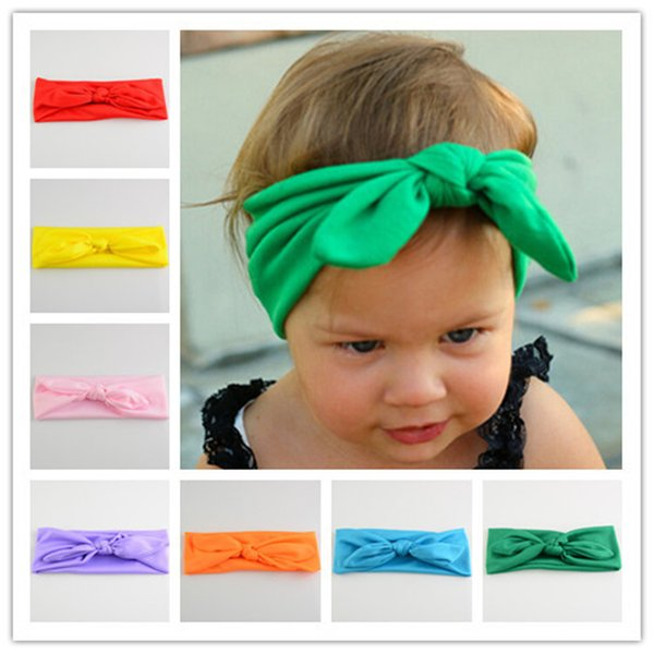 Wholesale - Europe and the United States sell headwear children headbands 17 color baby rabbit ears headdress Hair Accessories A0300
