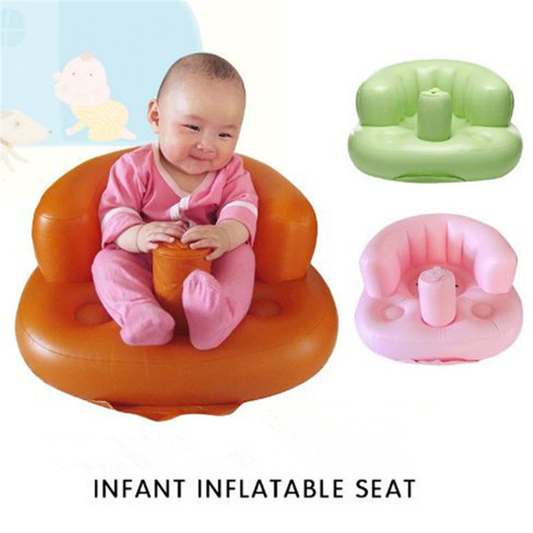 top popular Useful 3 color baby inflatable seat funny infant children inflatable seat sofa portable baby dining chair Toddler chair kid385 2021