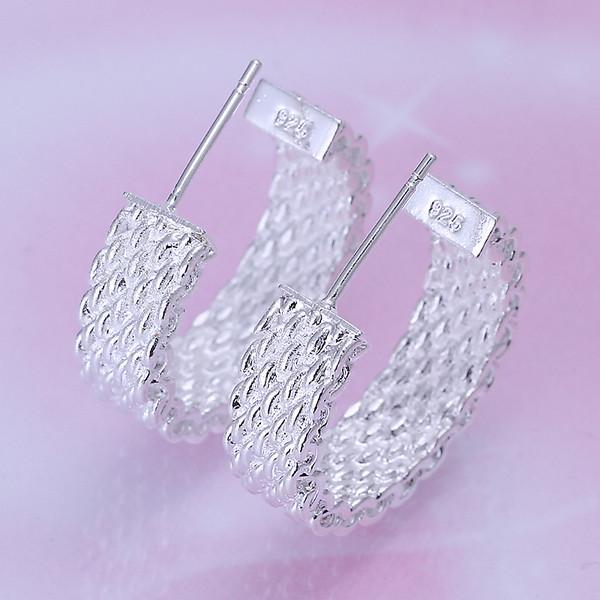 nuevo collar plateado de la joyería de la plata esterlina de la malla para las mujeres DN082, pendientes de plata populares 925