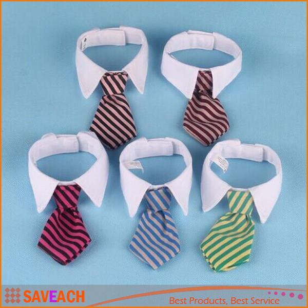 Adjustable Dog Cat Pet Wedding Gentleman Neck Tie, Lovely Adorable Grooming Tie Necktie, Dog Striped Bow Tie Collar