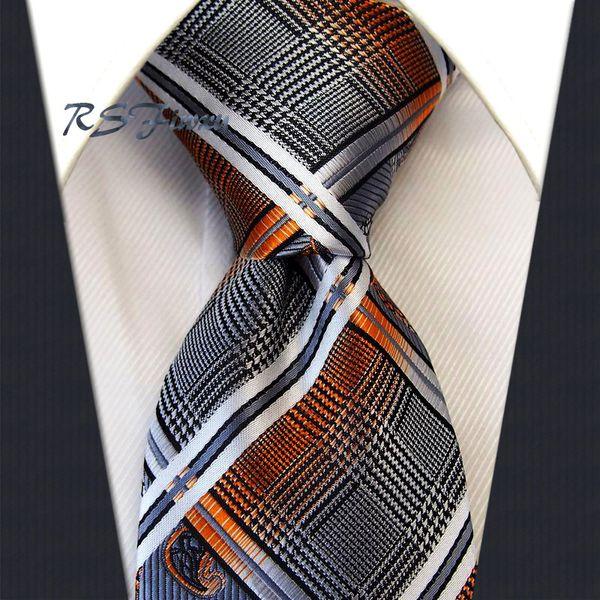 New Classic Beige Or Bleu Violet Paisley Jacquard Soie Tissée Hommes cravate cravate