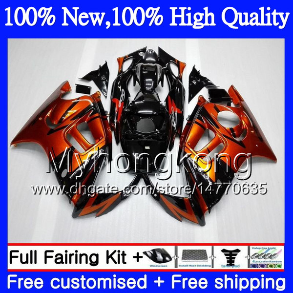 Bodys Motorcycle For HONDA CBR600 F3 CBR600RR F3 CBR600FS 95 96 47MY16 CBR 600F3 FS CBR600F3 CBR 600 F3 1995 1996 Orange black Fairing kit