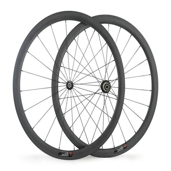 Best quality 3K weave 38mm depth 700C, Powerway R36 hub 38mm rueda tubular road bike wheel set basalt freno ruedas clincher