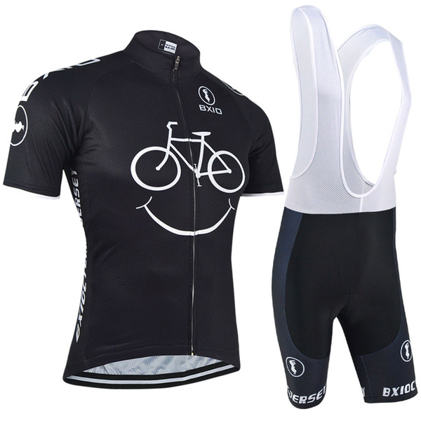 BXIO New Comming Jerseys de ciclismo Yellow Smile Mountain Bike Ropa de manga corta Ciclismo de secado rápido Breathable Bikes Clothes BX-085
