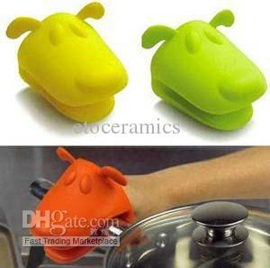 Vendita all'ingrosso Cane / Doggie Design Pliable Silicone Pot Holder Guanto da forno guanto in silicone