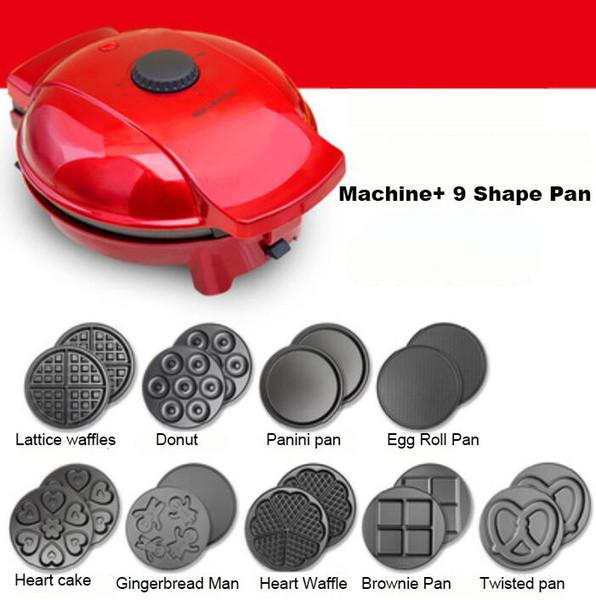 Moldes para moldes de huevo Molde para wafles Máquina para hacer waffles Mini Fabricante de rosquillas Waffle Cone Maker Home 220v