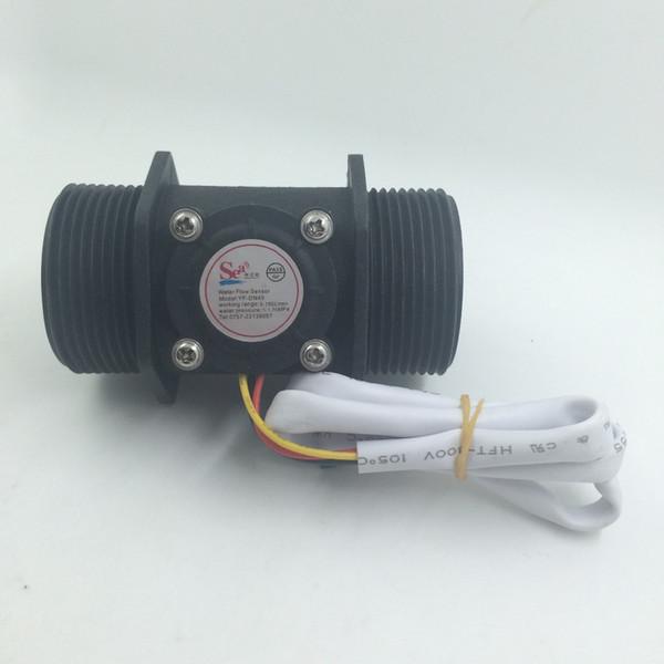 "Wholesale-G1.5, DN40 Water flow sensor, Industrial flow meter 1.5"" Water Flow Flowmeter Counter Hall Sensor Switch Meter 5-150L/min"