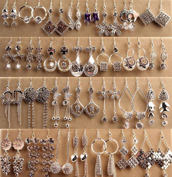 best selling Top Quality Fashion Hypoallergenic Earrings Silver Boxed Long Earrings Korean Jewelry Diamond Earrings Goddess Style
