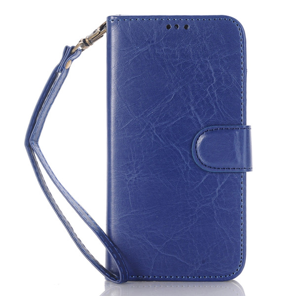 Book Style Crazy Horse Wallet Folio Stand Leather Case Cover with Credit Card Slot Money Pocket for Samsung Galaxy j7 2016