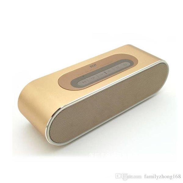 2016 H2 portátil inalámbrico Bluetooth estéreo HIFI pequeño altavoz de bajo de aluminio altavoz exterior tarjeta de doble altavoz para llamadas de voz 10-YX