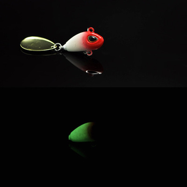 Vibration Lure For Day Night Fishing Bass 10g/5cm Metal VIB Lures Jigs Glow With White BKK Hook