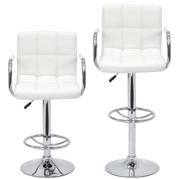 Sensational Of 2 Swivel Hydraulic Height Adjustable Leather Pub Bar Stools Chair White From Newlife2016Dh 110 56 Dhgate Com Caraccident5 Cool Chair Designs And Ideas Caraccident5Info