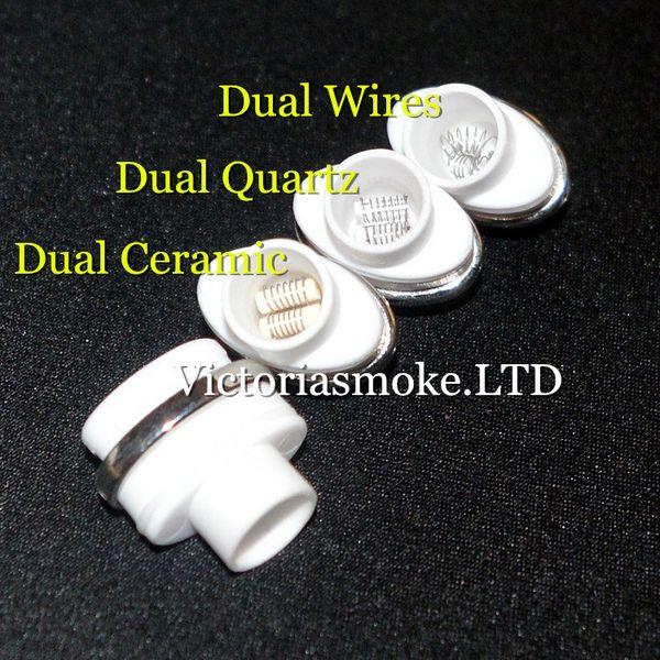 Factory Sale dual wax coils for micro dry herb g Vaporizer herbal vaporizers pen Wax dry herb atomizer e cigarette herber vapor cigarettes