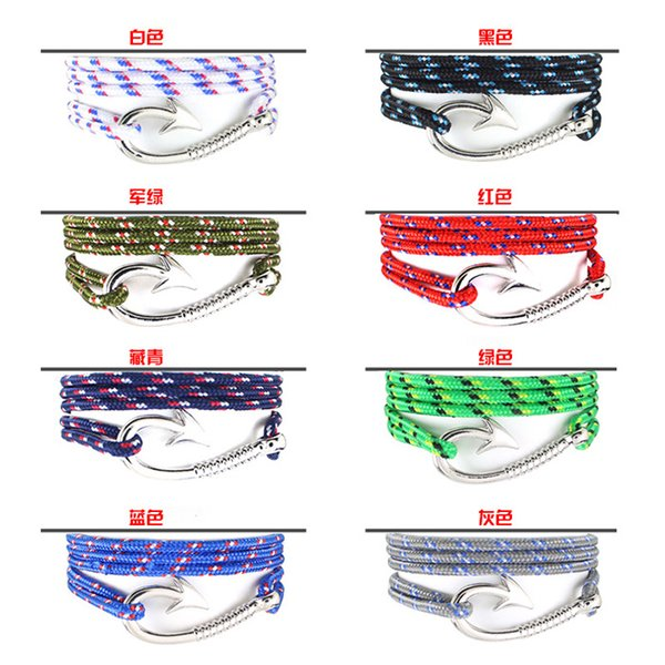 Fish hook Fashion pirate nautical navy anchor bracelet small fragrant wind woven simple bracelet DHL free shipping