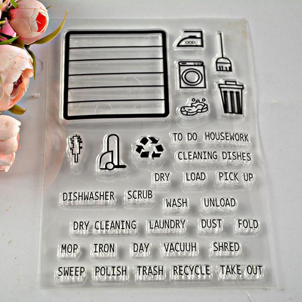 Wholesale 1 Sheet Clear Rubber Stamp Words Transparent Stamp Diy ...