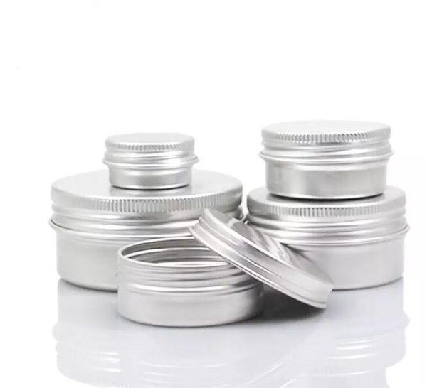 Empty aluminum cream jar tin 5 10 15 30 50 100g co metic lip balm container nail derocation craft pot bottle