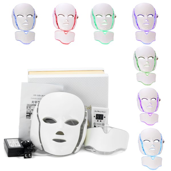 PDT Photon LED Facial Mask Skin Rejuvenation Wrinkle Removal Electric Device Anti-Aging Mask Therapy 7 Colors Beauty Machine