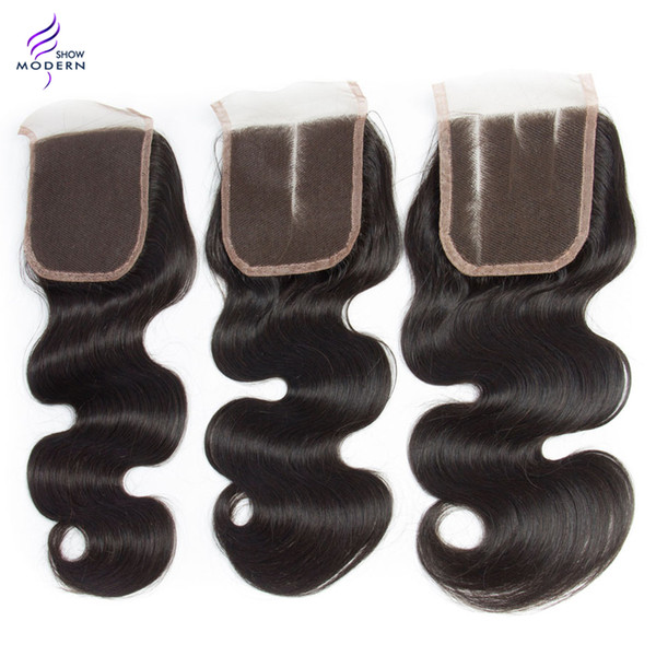 Brazilian curly Body Wave Loose Wave Water Wave Straight Lace Closure Brazilian Virgin Hair Human Hair Weaves 13x4 Swiss Lace Clousre