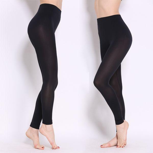 top popular 2016 New Comfortable Women Spring Autumn Sexy Cotton Pants Elastic Thin Elegant Slim Black Color Pencil Leggings 2019