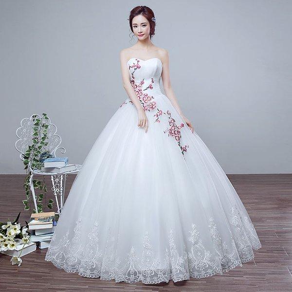 2016 New Summer Wedding Dress Korean Princess Bride Wedding Bra Size ...
