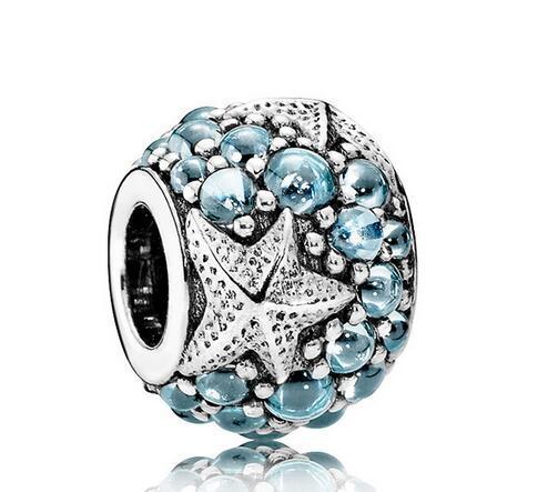 20 pcs zinc alloy European beads with stones Big Hole Loose Beads For Pandora DIY Jewelry Bracelet