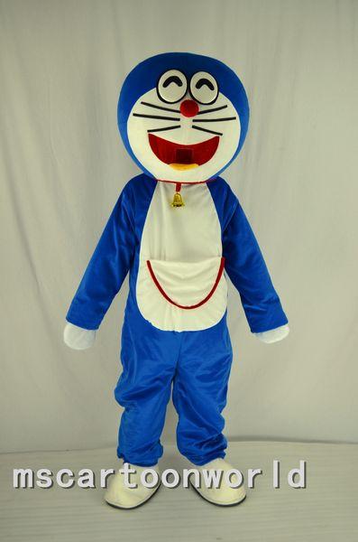 La alta calidad Jingle gatos de dibujos animados traje de la mascota jingle gatos tamaño adulto azul trajes de carnaval de Navidad vestido de baile envío gratis